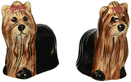 Pavilion Rescue Me Now Yorkshire Salt and Pepper Shaker Set, Ralphie and Sherri Kay, 3-Inch