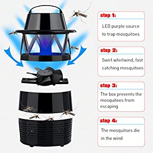 Make you perfect Electronic Mosquitoes Killer Lamp,Fly Killer Electric,Bug Zapper Light Bulb,USB Power LED Mosquito Repellent for Indoor Outdoor Camping Travel Home Garden 110V (black)