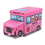 Braceus Multi Usage Police Car School Bus Vehicle Toy Storage Box Kids Stool Household (5#)