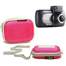 Navitech Pink Water Resistant Hard Case Cover For TheNextbase 312GW Dash Cam