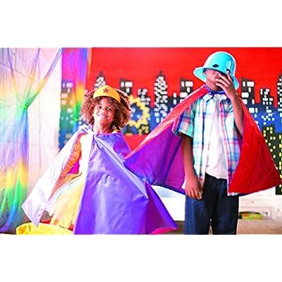 Gold Glitter Superhero Tiaras (1 Dozen) Costume Accessories, Pretend Play, Crown: Kitchen & Dining