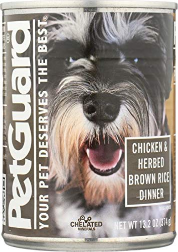 Petguard Dog Cat Food - PetGuard: Canned Dog Food Chicken and Herbed Brown Rice Dinner, 13.2 oz -6PACK