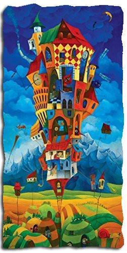 Artifact Puzzles - Tomasz Pietrzyk Tall Tower Wooden Jigsaw Puzzle (Jigsaw Wooden Big Fish)