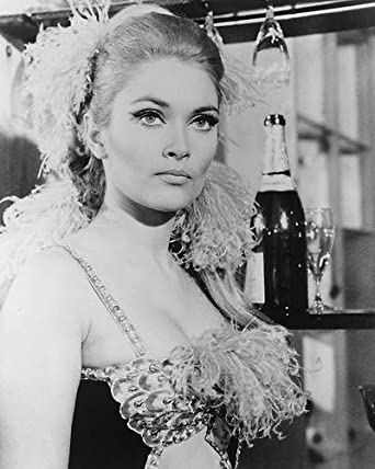 Alexandra Bastedo Busty In Showgirl Costume With Drinks The