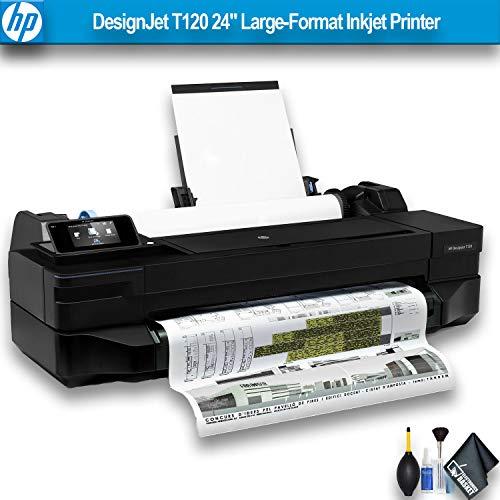 HP DesignJet T120 24″ Large-Format Inkjet Printer (CQ891BB1K) Essential Bundle