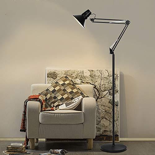 Blueseao Adjustable Floor Lamp,Metal Floor Lamp Adjustable Goose Neck Standing Lamp with Heavy Metal Base