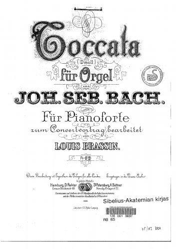 Toccata and Fugue in D minor - For Piano solo (Brassin) - Score
