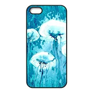 Custom Jellyfish Design Rubber TPU Case for Iphone 5 5S wangjiang maoyi