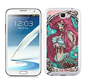Personalized Case Zombie Ariel The Little Mermaid Samsung Galaxy Note 2 Case in White