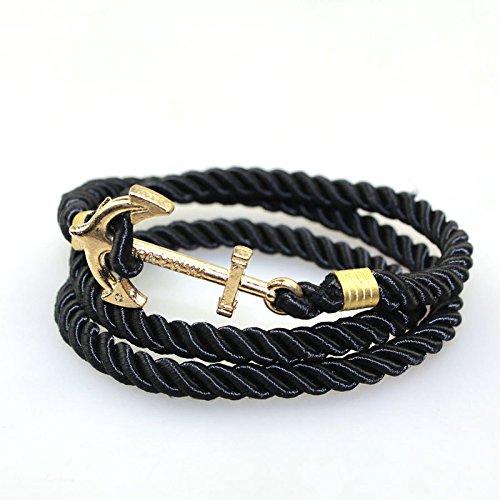 Bracelet anchor braid layer winding bracelet jewelry trade AliExpress factory direct Hot Cleavage eBay -