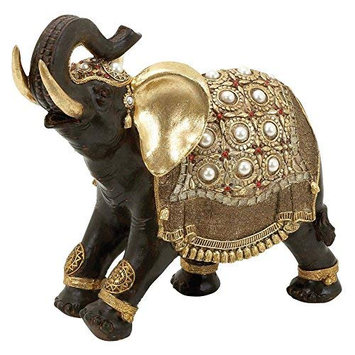 16 by 12-Inch Deco Seventy-Nine 69477 Deco 79 Poly-Stone Elephant
