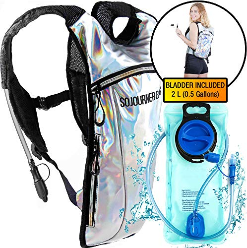 Sojourner Rave Hydration Pack Backpack - 2L Water Bladder Included for Festivals, Raves, Hiking, Biking, Climbing, Running and - Festival Pack