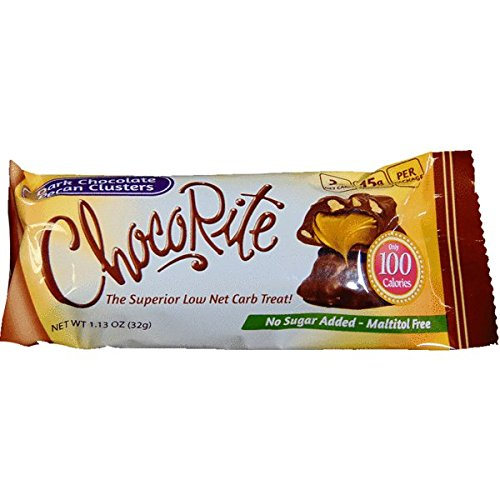 ChocoRite - High Protein Diet Bar | Dark Chocolate Pecan Clusters | Low Calorie, Low Fat, Low Sugar ( 16/Box )