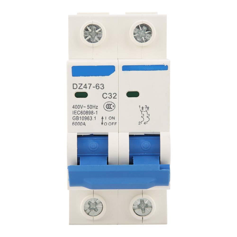 RCCB Circuit Breaker - DZ47-63 2Pole 32A RCCB Residual Current Circuit Breaker, 220/380V Dewin