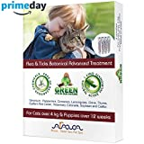 Arava Flea & Tick Control Drops - Treatment for Cats & Puppies, Safe for Kids, (4 Pack) - Botanical Drops Repel Pests with Natural Oils - Safe for Pets, Enhanced Defense & Prevention (2 Variations)