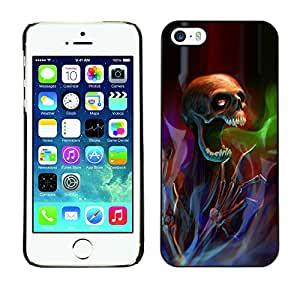 Paccase / SLIM PC / Aliminium Casa Carcasa Funda Case Cover para - Death Metal Rock Heavy Dark - Apple Iphone 5 / 5S