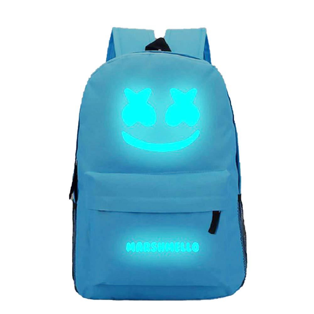 Mochila Mochila para computadora Bolsa de Ocio Azul Mochila de Material de poli/éster de Capacidad m/áxima de 35L NEWXYX Mochila Luminosa para Estudiantes