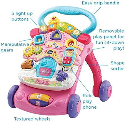 Amazon.com: First Steps Baby Walker (rosa): Toys & Games