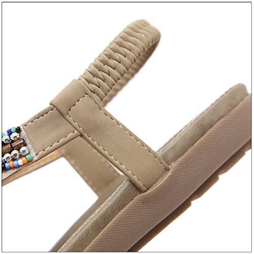 Sandali Casual Da Donna Btrada Slip On Infradito Scarpe Basse Per Albicocca Spiaggia Estiva