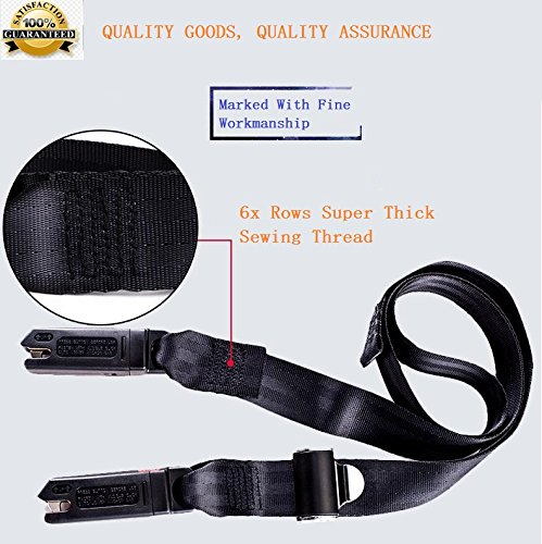 Latest Model Passenger Car Child Safety Seats General Isofix Interface Belt Latch (Black)