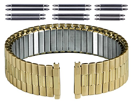Gilden Gents Expansion 17-22mm Extra-Long Gold-Plated Stainless Steel Watch Band 534-YL