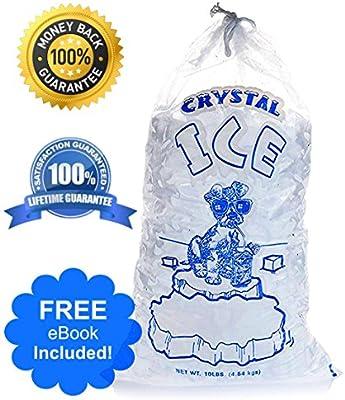 Bolsas de hielo comerciales transparentes con cordón de ...