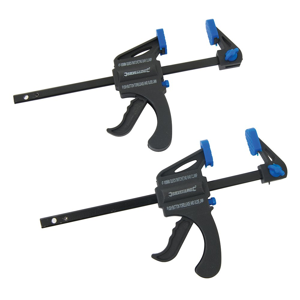 Silverline 250108 100 mm 2 Pack Quick Clamps