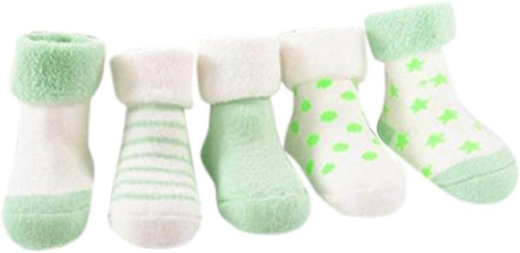 4 Pares Calcetines de bebé recién Nacidos niñas niños Zapatos de ...