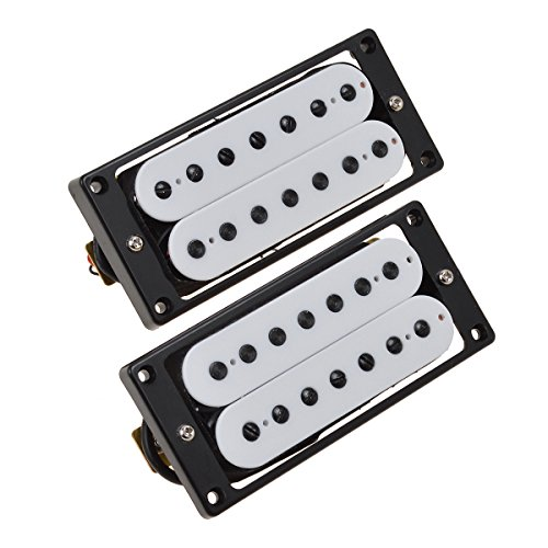 Kmise 7 String Guitar Pickup Set Double Coil Humbucker White Pair Of 1 (MI0674)