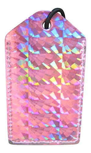(Luggage Tag Holographic Pink )