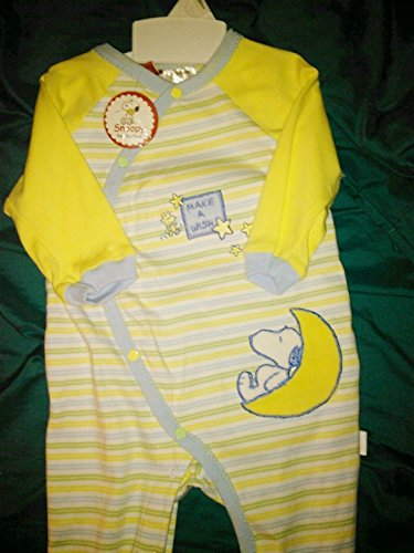 Peanuts Baby Snoopy Deluxe Footed Onesie - Make a Wish (Charlie Brown Infant Costume)