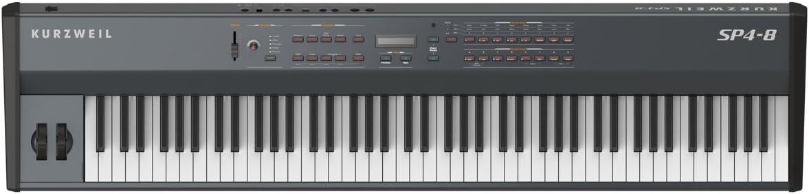 Kurzweil SP4-8 - Teclado MIDI (USB, 140,02 cm, 33,02 cm, 13,97 cm, DC, 15W) Negro