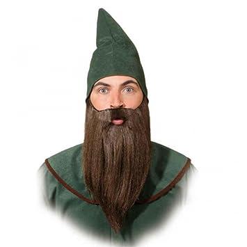 Enano de la barba suave, accesorios del traje marrón ...