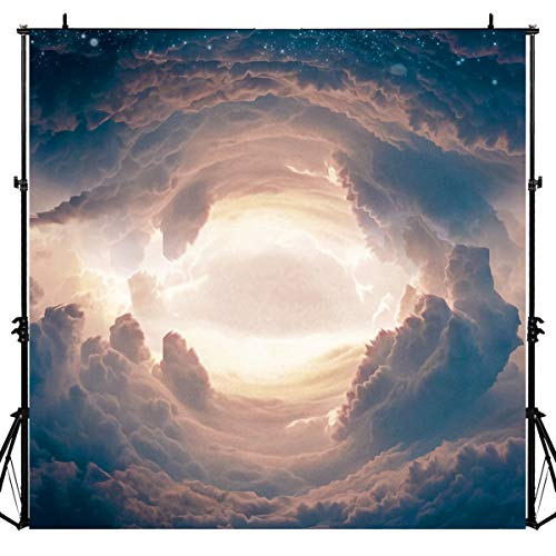 Clouds Sea Fantasy Backdrop for Photography, 6x6FT, Fairytale World Background, Baby Shower Kids Birthday Portraits Booth Props LYLU148 ()