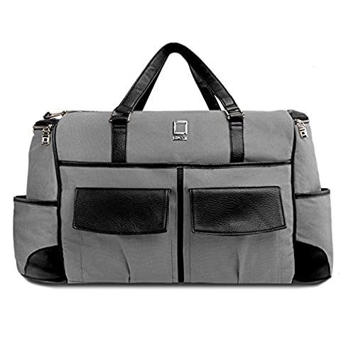 Lencca Gray and Black Alpaque Duffel Water-Resistant Luggage Laptop Bag for MSI Prestige / GT (Msi Gt70 Gtx980)
