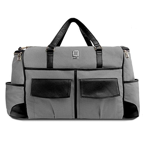 lencca-gray-and-black-alpaque-duffel-water-resistant-luggage-laptop-bag-for-toshiba-satellite-tecra-
