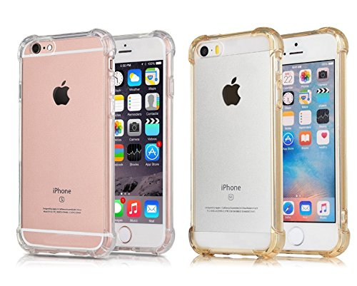 [2Pack]iPhone 6S Plus Case iPhone 6 Plus Case, CaseHQ Crystal Clear Enhanced Grip Protective Defender cover Soft TPU Shell Shock-Absorption Bumper Anti-Scratch Air Cushioned 4 Corners - Brand Name Cheap Glasses
