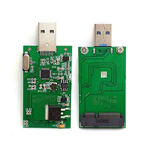 Semoic mSATA to USB 3.0 mSATA SSD Adapter Card as USB Disk Driver