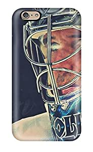 Iphone 6 Case Cover - Slim Fit Hard Protector Shock Absorbent Case (dwayne Roloson Hockey Nhl )