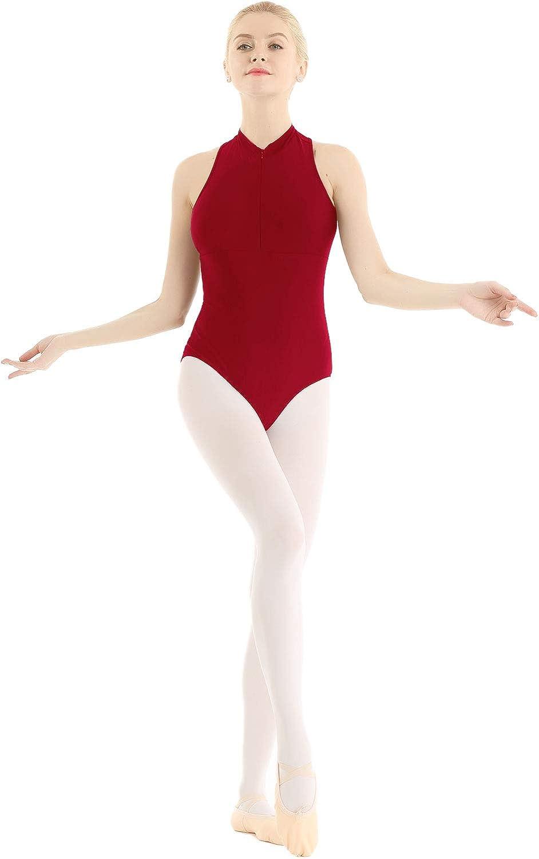 inlzdz Women Lycra Spandex Ballet Dance Leotard Bodysuit Sleeveless Lace Splice Gymnastics Cpstume