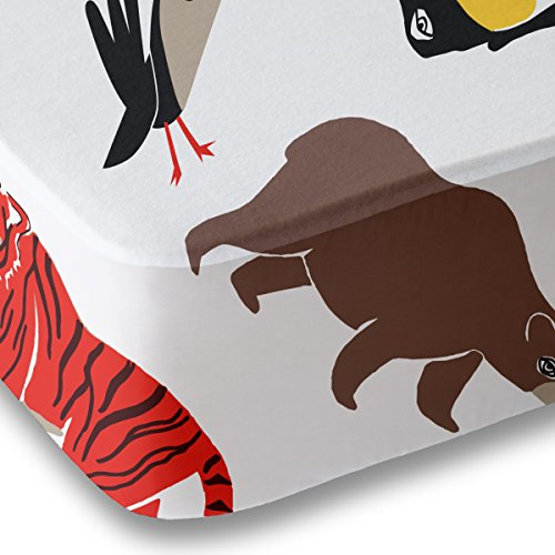Animal Print Crib Sheet for Boys and Girls - Double Brushed Ultra Microfiber Luxury Crib Sheet Set By Where The Polka Dots Roam. Fits a Standard 52 mattress.