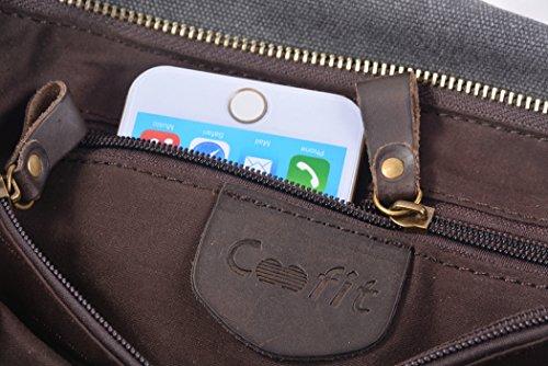 Gris Littéraire Version Coréenne Style Rétro Coofit Canvas Eu Messenger Bag Gris Taille Université Sac ® Unique Unisexe Besace xqgUqw1HRS