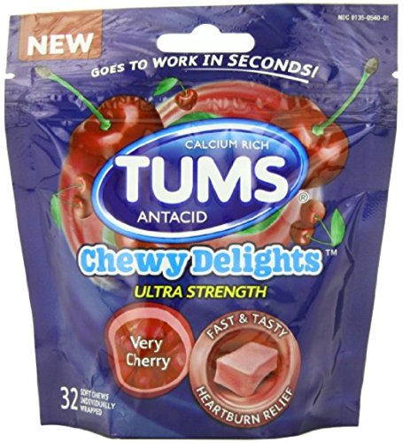 Tums Very Cherry Chewy Di Size 32ct Tums Very Cherry Chewy Delights 32ct