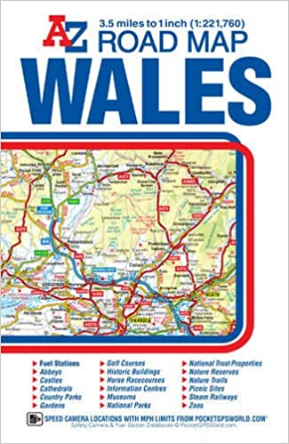 Detailed Map Of Wales Uk.Wales Road Map A Z Amazon Co Uk Geographers A Z Map Company Ltd