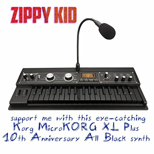 support me with this eye catching korg microkorg xl 10th anniversary all black synth by zippy. Black Bedroom Furniture Sets. Home Design Ideas