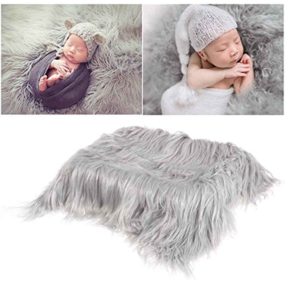 Details About Baby Photo Props Soft Fur Quilt Photographic Mat Diy Newborn Photography Favors