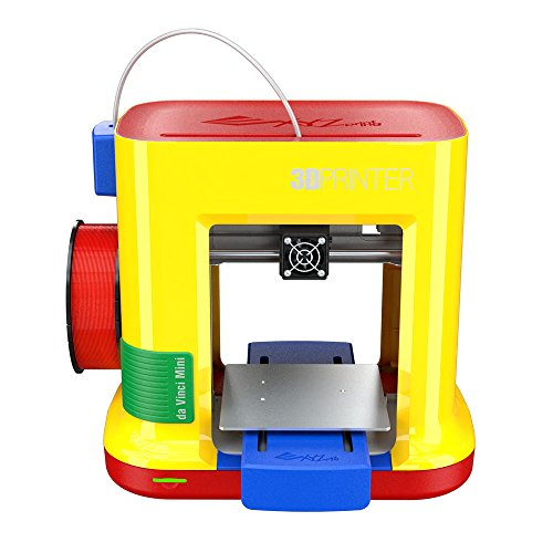 "da Vinci miniMaker 3D Printer -6""x6""x6"" Built Volume (Includes: $14 300g PLA Filament, 49 STEAM 3D Design Tutorial eGift Card – Must Register Product, 10 Maintenance Tools, XYZmaker CAD Software)"