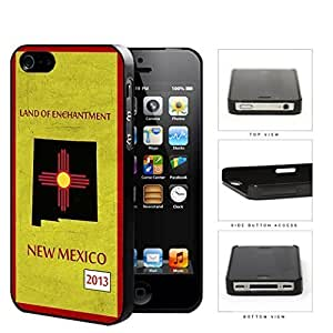 New Mexico State Tag Grunge Scrapes Hard Plastic Snap On Cell Phone Case Apple iPhone 4 4s