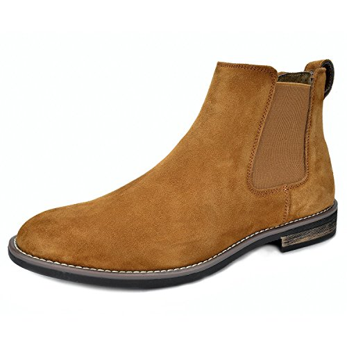 Bruno Marc Men's Urban-06 Camel Suede Leather Chukka Ankle Boots - 8 M US ()