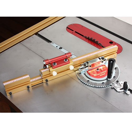 Incra MITER1000SE Miter Gauge Special Edition With Telescoping Fence and Dual Flip Shop Stop by INCRA
